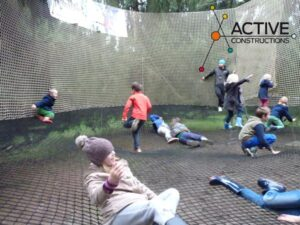 bounce net in een Active Fun Park