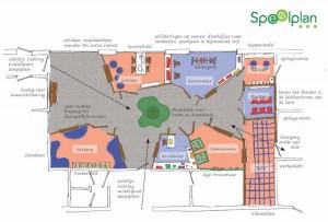 Ontwerp binnenspeeltuin SV Tuindorp in Wageningen