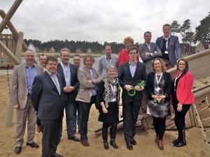 Thomas Heerkens (met GreenKey) op de groepsfoto met Landal parken die een GreenKey hebben behaald.