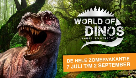 Pop-up uitje 'World of Dinos' deze zomer in Jaarbeurs Utrecht ...