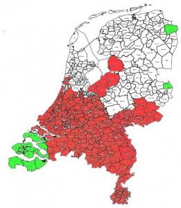Knipsel kaartje nederland leefstijlen
