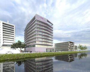 Nieuw hotel van Mariott in het gebied van de Houthavens