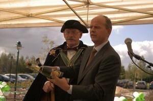 Bas Hoogland tijdens de opening van Landal Orveltermarke