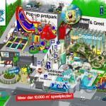 Sportfaciliteit en zwembad transformeert naar pop-up pretpark