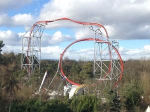 coaster Sky Scream in Holiday Park