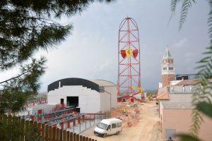 Ferrari Land in aanbouw