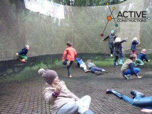 bounce net in een Active Fun Park