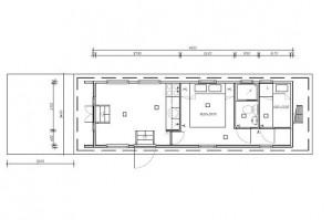 plattegrond Aquacabin de  luxe