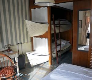 Hotel Bell Rock, waar kinderen kunnen slapen in een sloep