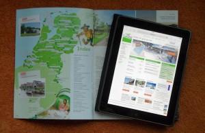 brochure en tablet