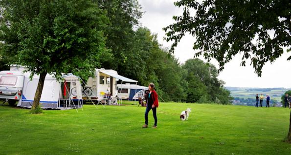 Een mooi voorbeeld hoe het moet; een goed in het landschap passende camping in Zuid-Limburg.