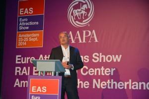 In 2014 droeg ook de recreatiesector bij aan het congrestoerisme met de Euro Attraction Sow (EAS) in Amsterdam