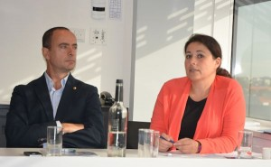 Fernando Aldecoa (Portaventura) en Francesca Tudini (Europese Commissie)