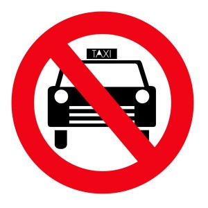geen taxi