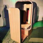 Wegwerpflessen worden design infraroodsauna voor hotels & vakantiehuizen