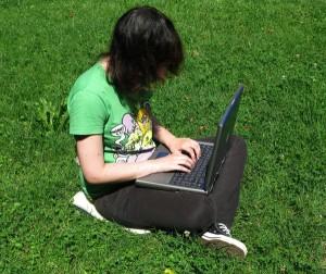 laptop buiten