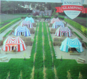 Knights glamping op Leeds Castle (tent a 140 Pound/nacht)