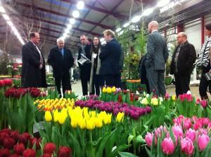Leden van Leisure Board op bezoek bij het Holland Food & Flower Festival