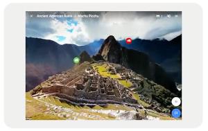 Foto van een 360 view van Machu Picchu uit Google Expeditions
