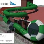 Waterglijbaan van de toekomst wordt een complete attractie