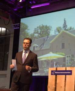 Marc van den Tweel tijdens zijn eerste publieke optreden
