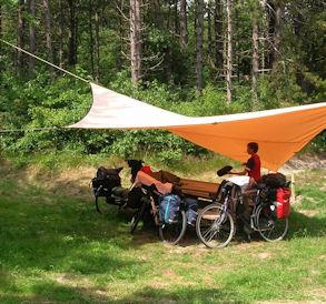 natuurkamperen fiets