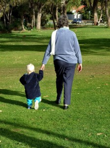 oma en kleinkind