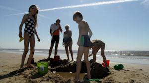 in 2012 was het prachtig strandweer tijdens de pinksterdagen