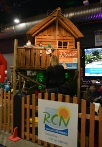 het boomhuisje op de stand van RCN was zeer populair