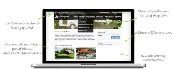 screenshot van een voorbeeldwebsite