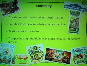 samenvatting over 'werken met merken' door Merlin Entertainments