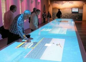 Interactieve tafel in het Scheepvaartmuseum