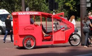 taxi op zonne-energie