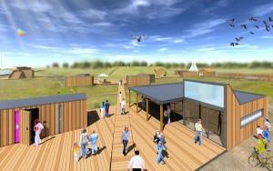 visualisatie van het Steigerdorp Blauwestad