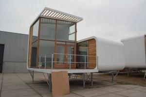 Het ontwerp dat bij Groede geplaatst gaat worden door camping Zonneweelde