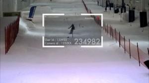 automatische detectie van de skiër