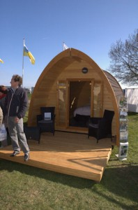 een wat luxere kampeervorm in The Pod