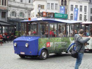 Toeristentreintje in het centrum van Antwerpen