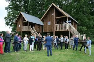 officiële opening boomhutten op camping De Koeksebelt