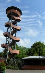 Uitkijktoren over de Veluwe bij station Nunspeet