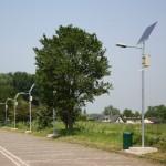 Verlichting parkeerplaats jachthaven Rhoon op zonne-energie