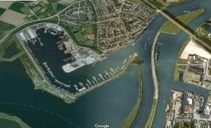 De Maas bij Wessem (bron: Google maps)