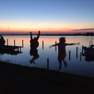 zonsondergang jump